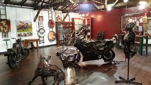 Inside Adrian Worsley's Gallery, Te Aroha, New Zealand
