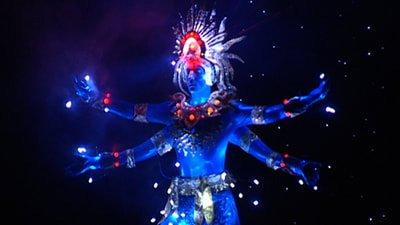 Neon costume in Wellington World of Wearable Arts Show