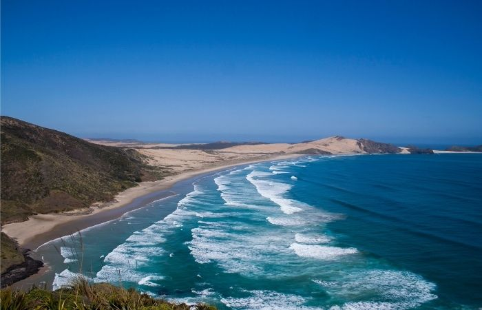 Coastline near Cape Reinga, Northland, New Zealand