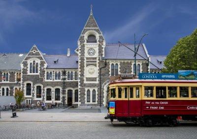 Christchurch city centre and tram