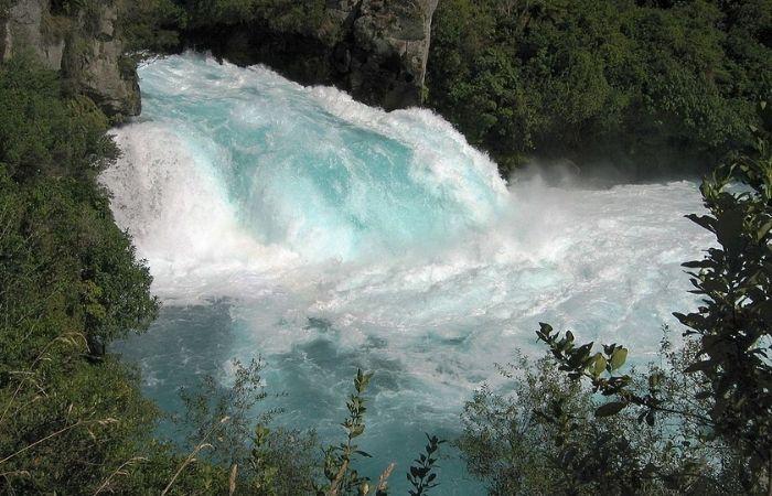 Waikato falls with white water