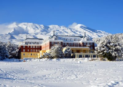 Chateau Tongariro in the snow