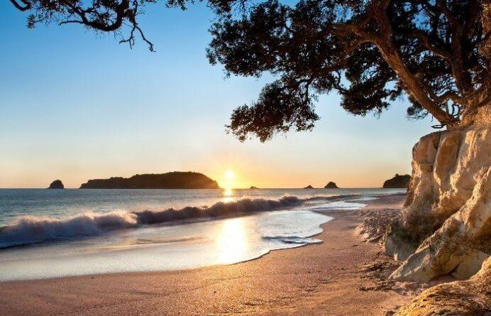 Hahei Beach in the Coromandel at Sunrise