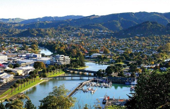 Aerial view of Gisborne City