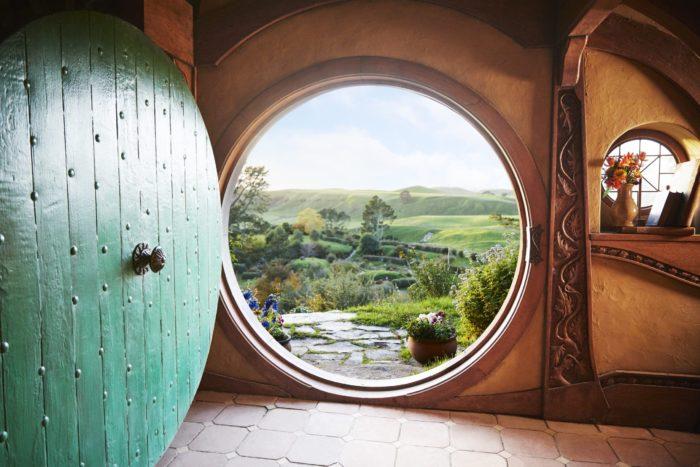 View from Hobbit hole at Hobbiton Movie Set