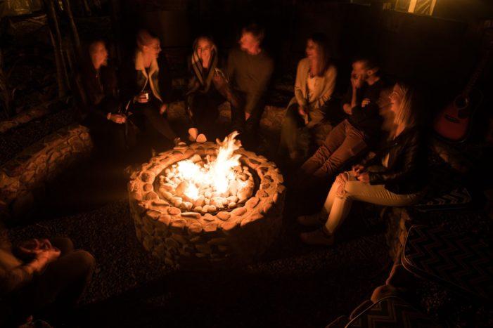 Castaways glamping village firepit