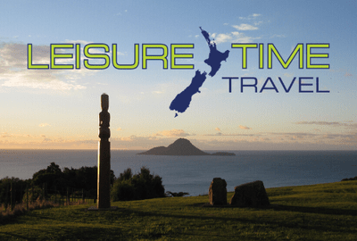 Leisure Time Logo on background picture
