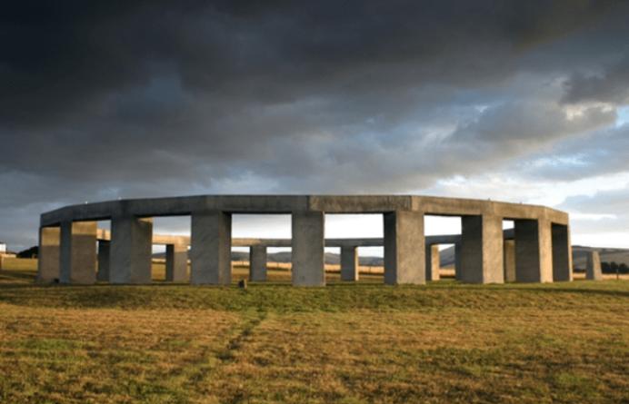 Stonehenge Aotearoa with cloud