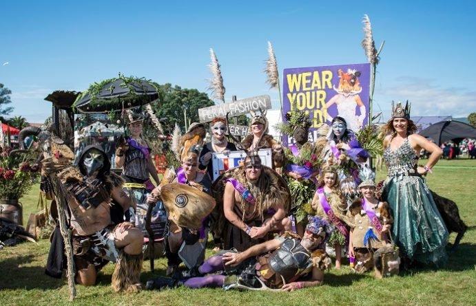 Hokitika Wildfoods Festival Group dressed up