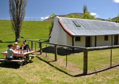 Picnic lunch at the original Molesworth Cob Cottage