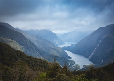Doubtful Sound aerial view
