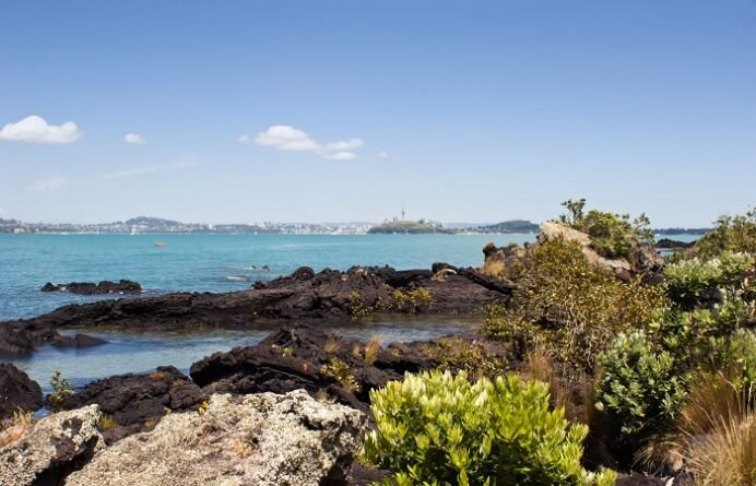 From Rangitoto looking towards Auckland
