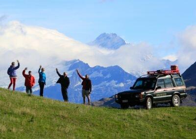 Ridgeline Adventures Wanaka - Group waving at camera