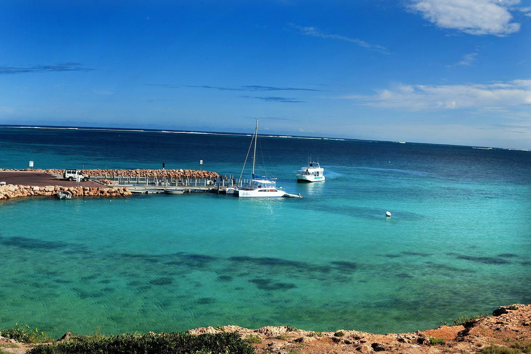 Ningaloo Marine Park visited on our Perth to Broome tour