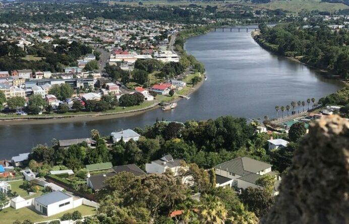 Looking down the Whanganui River