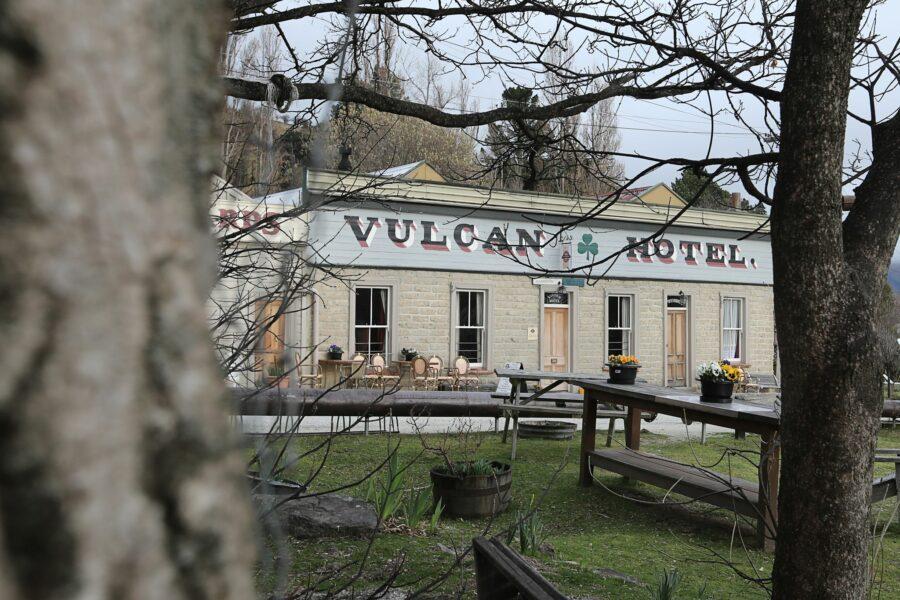 Vulcan Hotel, St Bathans through the trees