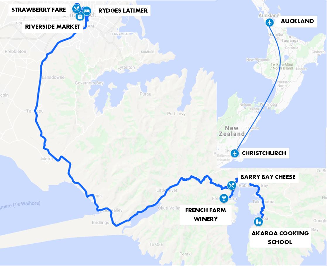 Christchurch Food Feista Map