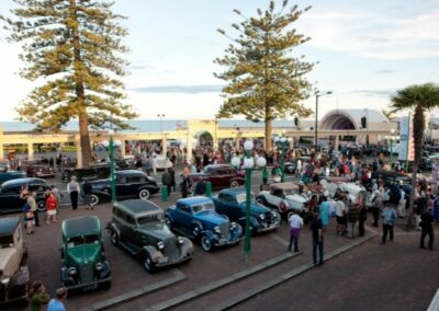 Art Deco Weekend Cars Lined Up