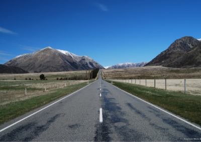Looking down the road to Arthurs Pass