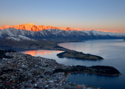 Queenstown At Winter Aerial View