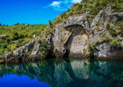 Scenic Cruise Lake Taupo Carvings Chris Jolly Cruises