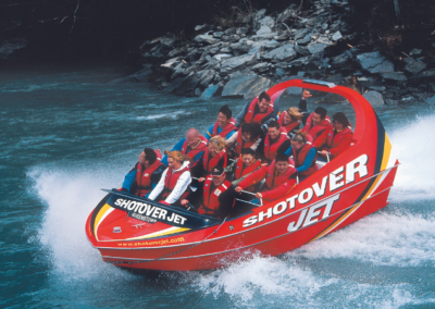 Shotover Jet going on the water