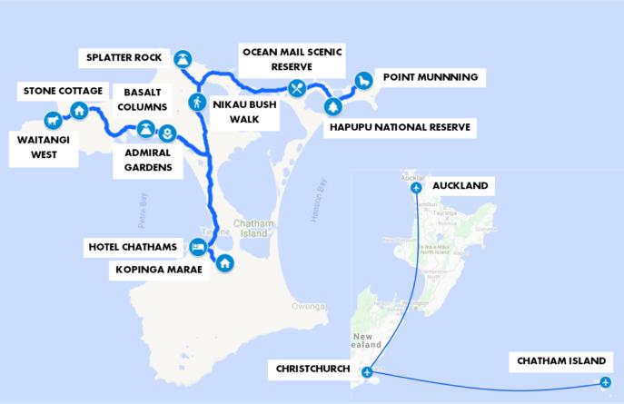 Chatham Islands Map