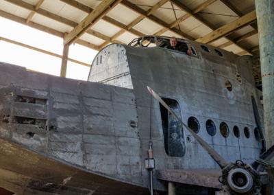 Flying boat on Muirson Farm